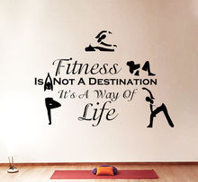 new Wall Decals Quotes Sport Fitness Is Not Exercises Gym Bedroom Vinyl Decor Free shipping