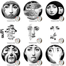 NO.1-28 Designer Fornasetti Wallpaper The Same As Transparent Stickers Wall Stickers For Wall Decoration Living Room 1 PCS(China)