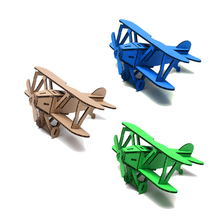 3 Piece 3D Airplane Model Mixed Color Paper Jigsaw Puzzle DIY Handmade Cardboard Creative Kids' Toy Home Decor Ornament Gifts(China)