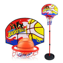 Portable Adjustable Children Toy Basketball Backboard Rim 3-Sections Basketball Stand with Inflator Bakstball Christmas Gift