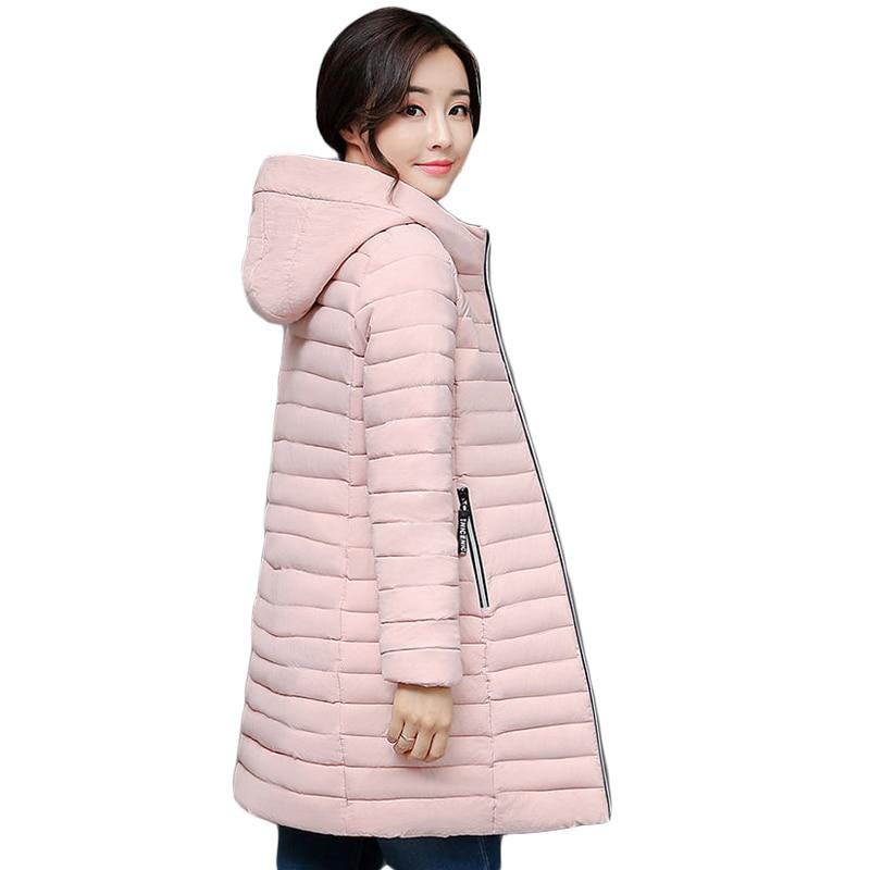 Autumn Winter Girls Hooded Medium-long Slim Down Cotton Coat Parkas Female Elegant Cotton-padded Casual Wadded Jackets CM1731Îäåæäà è àêñåññóàðû<br><br>