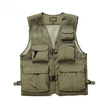 Men's Brand AFS JEEP High Quality Vests Men Mesh Photography Multi-pocket Cargo Work Vest Male Casual Waistcoat Jackets 878(China)