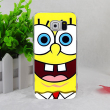 A2222 Sponge Bob Square Pants Transparent Hard Thin Case Cover For Samsung Galaxy S3 S4 S5 S6 S6 Edge S7(China)