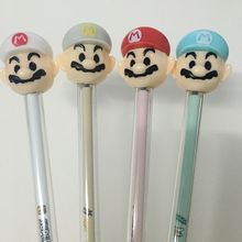4pcs/lot Mushroom seal Gel Pens Great Design With Super Mario World Character Lovely Pens  Black Ink Eco-friendly Ink