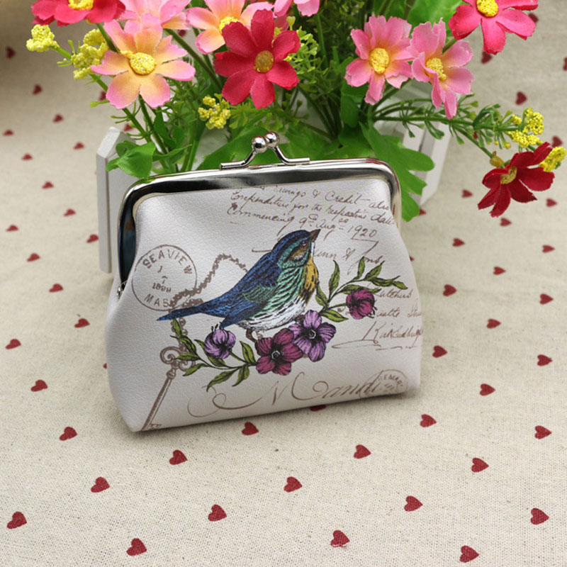 RU&amp;BR 1pcs New Fashion Design Women Change Purse Faux Leather Lady Printing Money Bag Wallets Small Hasp Coin Purse Gift<br><br>Aliexpress