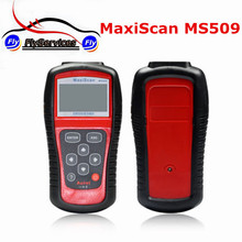 New Arrival Diagnostic Tool MaxiScan MS509 OBD2/EOBD Auto Code Reader Work For US&Asian&European Car MS509 Scanner Automotive(China)