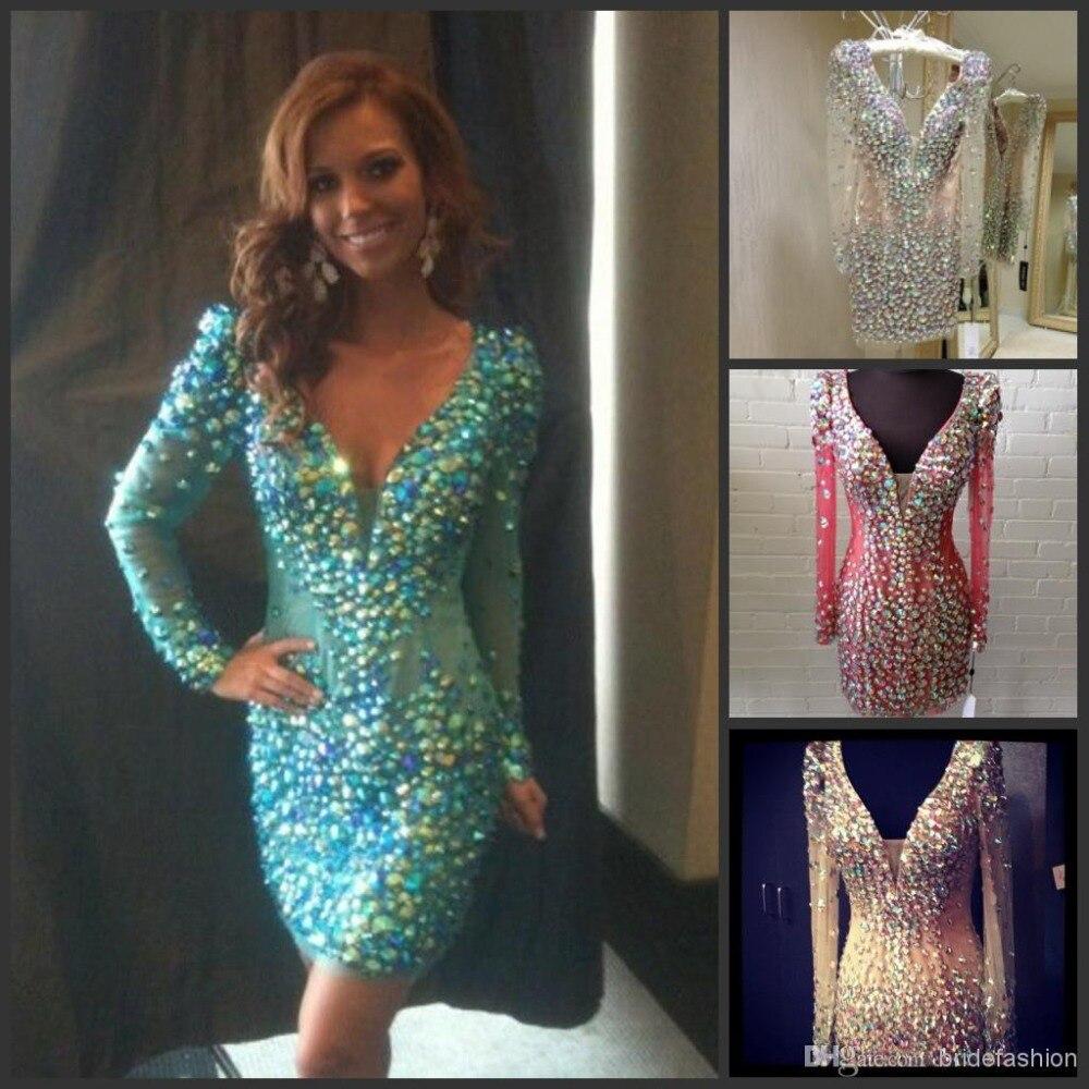 Online Get Cheap Rhinestone Cocktail Dresses -Aliexpress.com ...