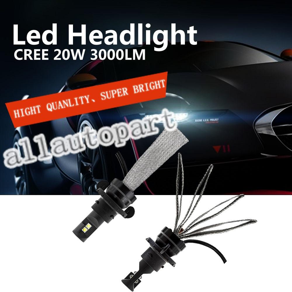 G5 6000LM XM-L2 LED Headlight 30W 3000LM H1 H3 H4 H7 H11 9004 9007 9005 HB3 9006 HB4 9012 H13 Car LED Fanless Headlight Bulbs<br><br>Aliexpress
