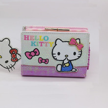 Fashion male clutch High quality PU Bow hasp hello kitty wallet female Waterproof and scratch resistant(China)