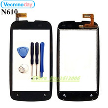 Vecmnoday Original High Quality 3.7'' For Nokia Lumia 610 N610 Touch Screen Digitizer Sensor Front Glass Lens panel + tools