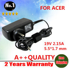 New AC charge adapter 40W 19V 2.15A  For  acer D255  D260  D257 D271  netbook  with 2-prong 5.5*1.7mm interface  power Adapter