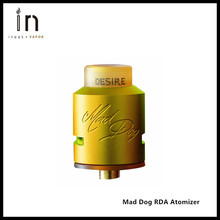 Original Desire Mad Dog RDA Atomizer Bottom Side Airflow Rebuildable Dripping Tank with 2-post Build deck e-Cigarette DIY