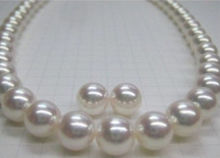 HOT Huge 12-13 mm AAA south sea white pearl necklace EARRING new GOLD CLASP  ^^^@^Noble style Natural Fine jewe FREE SHIPPING