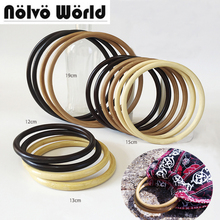 5 pairs=10 pieces,3 Colors 12cm 13cm 15cm 19cm Bamboo material Round Ring knit bag handbag handle,women purse weld circle handle