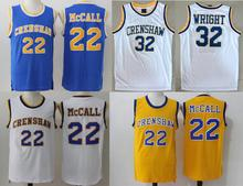 Basketball Jersey McCall 22# 32# Movie Love and Basketball Jersey CRENSHAW Cool Basketball Jersey Shirts Street Basketball