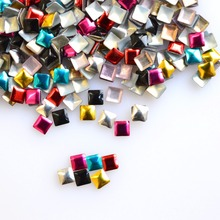 1000pcs Mixed Deep Color 3mm Square Rivet 3d Nail Art Tips Metal DIY Decorations Accessory Nail Art Studs Styling Tools NC216