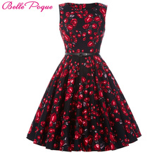 Belle Poque Womens Summer Dress 2017 Floral Retro Vintage 50s Casual Party Robe Rockabilly Dresses Plus Size Vestidos mujer