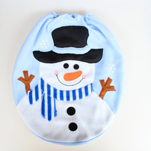 1PC Snowman Toilet Lid Cover Single Toilet Seat Cover Christmas Decorations Bathroom Accessories Sets(China)