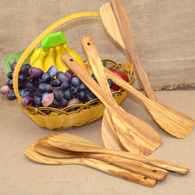 olivewood wooden tunner pizza kitchenwares tablewares natural finish #801 kitchen utensils(China)