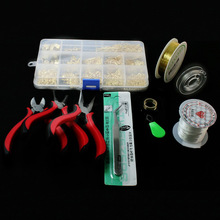 1 SET JEWELRY MAKING KIT, BEADS CAP/FINDINGS/PLIERS/Pins/Jump Rings/Wire/Thread/Earring/Clasp Fit Jewelry Accessories for DIY