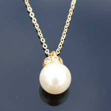 N803 Simulated Pearls Pendant Necklace Crystal Bijoux Collares Fashion Jewelry  Chain Necklaces HOT Selling 2017