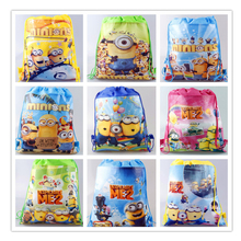 2016 HOT SALE!Children Cartoon Bag Drawstring Kids Backpack School Bags,Non-woven Material  school kids Free Shipping
