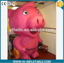 2m high Inflatable promotional giant inflatable advertising pig / inflatable mascot