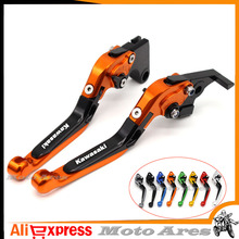 7 Colors CNC Adjustable Motorcycle Brake Clutch Levers for Kawasaki Z750 (not Z750S model) 2007 2008 2009 2010 2011 2012(China)