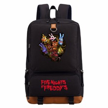 Five Nights at Freddy's Gold Freddy backpack Anime casual bag teenagers Men women's Student School Bags travel Backpacks Laptop