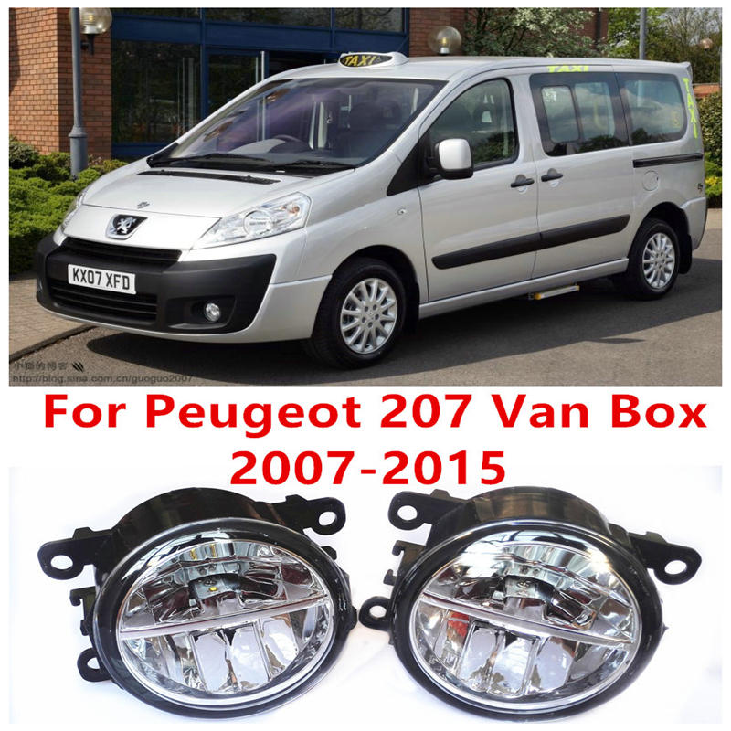 For Peugeot 207 Van Box  2007-2015 Fog Lamps LED Car Styling 10W Yellow White 2016 new lights<br>