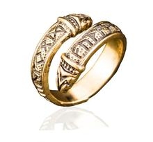 1 pc Vintage Adjustable Norse Viking Celtic rune Dragon Ring Elder Futhark Snake Ring For Men Punk Amulet Jewelry Christmas Gift