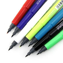 12 pcs/lot Korean Colorful Portable Wate based 0.38mm Fineliner Sketch Marker DIY Graffiti Manga Signature Drawing Writing Pen(China)