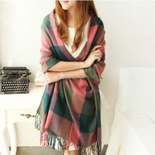 winter 2014 scarf plaid for women new designer acrylic basic wrap shawl scarves female Spring fall Cashmere for Christmas gift