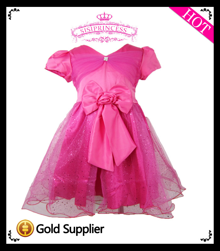 2013 New Free Shipping baby girl summer wear girl princess dresses with big bow girl formal dress<br><br>Aliexpress