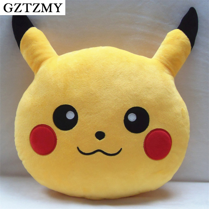 GZTZMY 30cm Pikachu Pillow Cushion pokemon plush Toys peluche pokemon Decorative Pillows Cartoon coussin Pokemon toys almofada(China (Mainland))