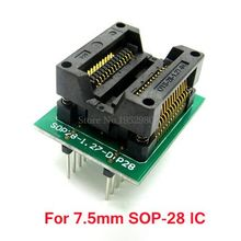 7.5MM SOP28 to DIP16 IC Burn in Testing Socket Chip Programmer Adapter Narrow Type Fit for 7.5MM SOIC IC