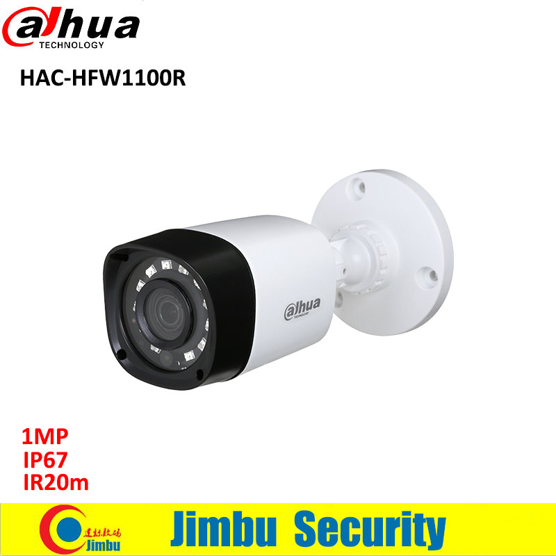 Dahua 1MP HDCVI mini camera HAC-HFW1100R Water-proof IP67 dahua IR20m bullet Camera long distance real-time transmission<br>