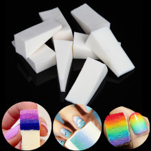 24pcs Nail Art Gradient Color Stamping Sponge Set Gel Polish Varnish 3D Image DIY Transfer Soft Triangle Coloring Stamp Foam Kit