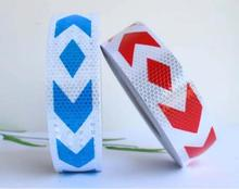 5cm*50M PVC Reflective Self-adhesive Warning Safety Tape Road Traffic Direction Sign(China)