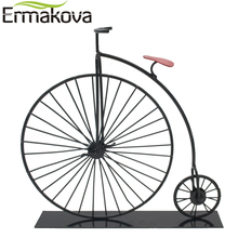 ERMAKOVA Metal Crafts Old Bicycle Model Retro Vintage Old Bike Model Antique Bicycle Club Ornament Home Office Decor BMT-03(China)