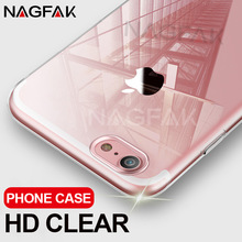 NAGFAK Ultra Thin Transparent Case For iPhone 8 7 Plus 6 6S Plus Cases Soft TPU Cover For iPhone 6 6S 7 8 Plus Phone Case Capa(China)
