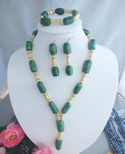 fashion jewelry set Beautiful Green Coral pendant necklace/ Bracelet/earring free shipping(China)