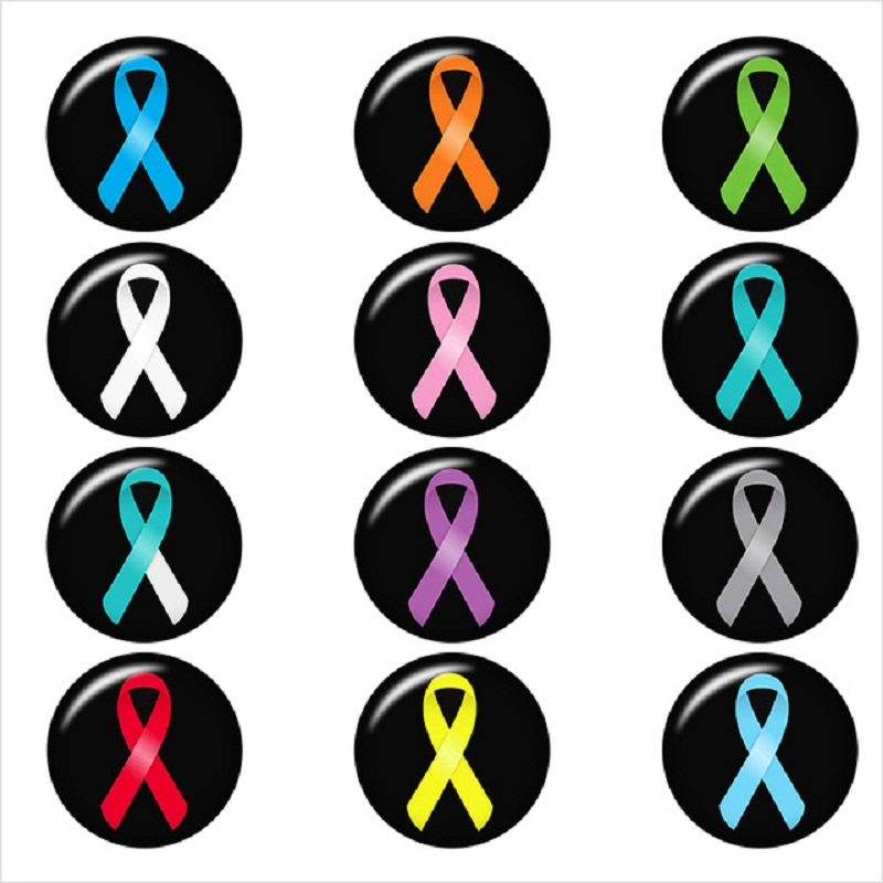 cancer-ribbon-glass-snap-button-DIY-jewelry-Round-photo-cabochons-flat-back-DA1155.jpg_640x640