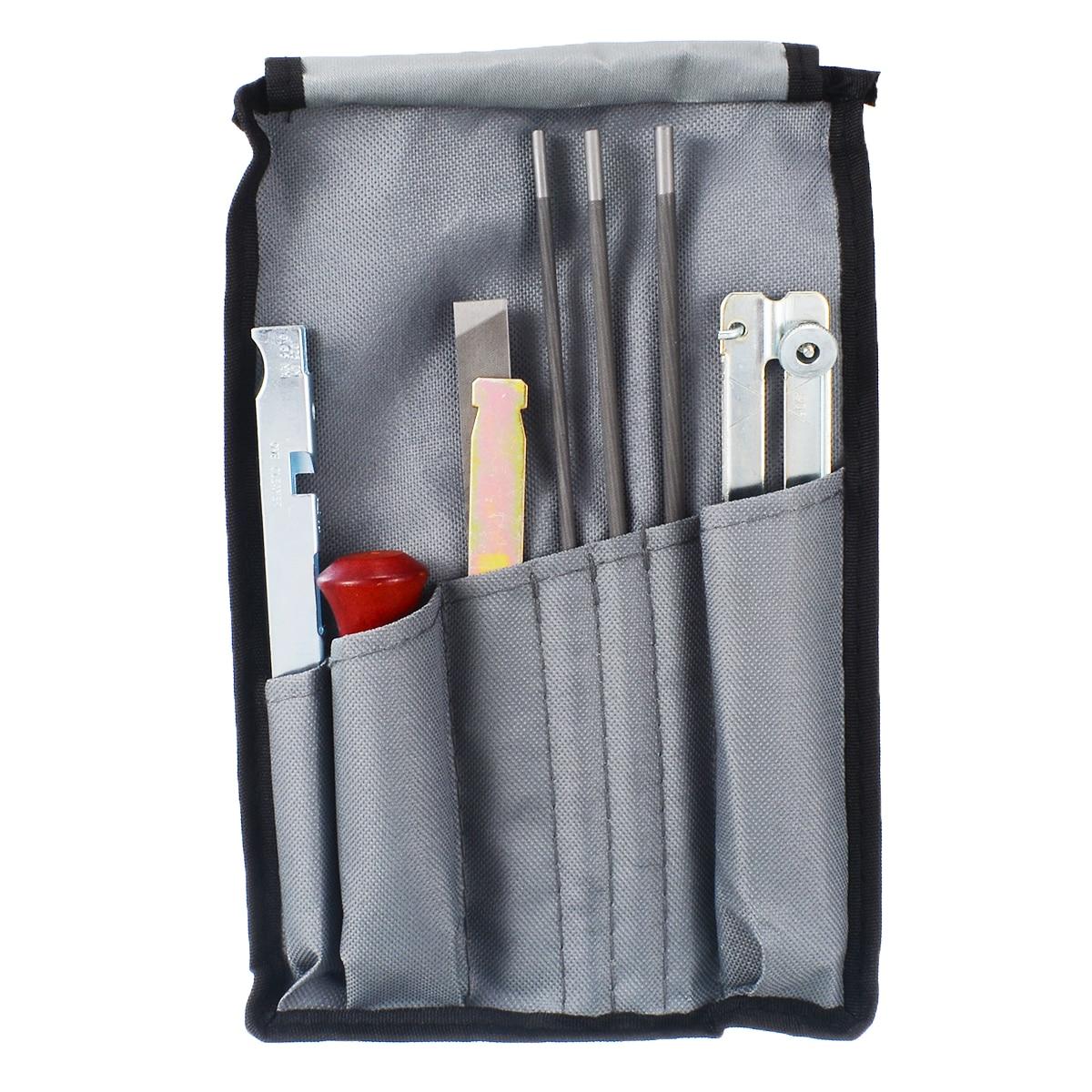 8pcs Chain Saw Sharpening Kit Guide Bar File Instruction Chainsaw Sharpening Hand Tool Set Mayitr