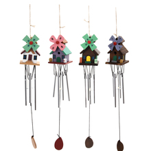 Unique Handmade Chinese Yunnan Unique Outdoor Living Unique Windmill Copper Log-cabin Metal Wind Chimes Home Decro Gift