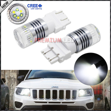 2pcs 1200 Lumens Super Bright CRE'E Chipsets 3156 3157 T25 3155 LED Bulbs For 2011-up Jeep Compass For Daytime Running Lights