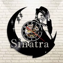 1Piece Frank Sinatra Led Vinyl Wall Clock Color Change Vintage Modern Handmade Gift LP Record Decorative Light Remote Control