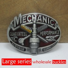Bullzine mechanic belt buckle with various designs mens' belt buckles FP-03643 for 4cm width belt free shipping(China)