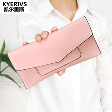 Brand PU Leather Women Wallet Long Thin Purses Cowhide Multiple Cards Holder Clutch Bag Fashion Wallet Female Coin Purse Clutch(China)