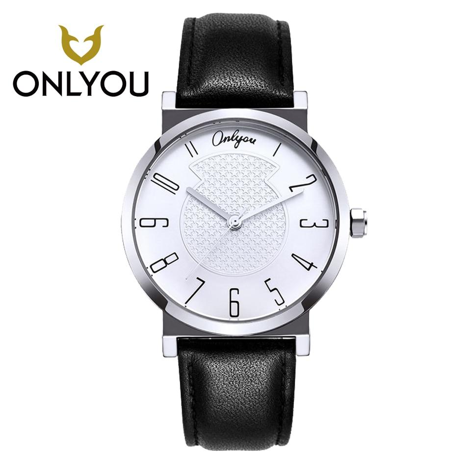 ONLYOU Men Quartz Watch Business Leisure Watches Lovers Wristwatch Women Dress Watches Gift Box Watch Student Clock montre homme<br>